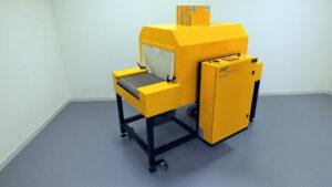 Krimptunnel voor het maken van krimpverpakkingen in polyolefinefolie en polyethyleen. specifiek voor consumenten verpakkingen.